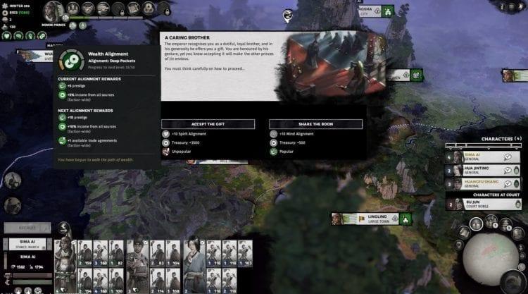 Total War Three Kingdoms Eight Princes Sima Ai Guide Alignment Wealth Spirit Sun Jian