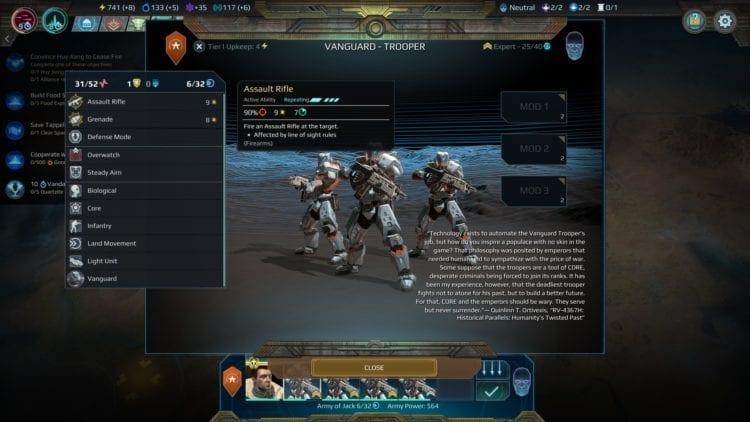Vanguard Trooper Stats Elemental Attacks