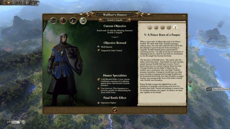 Legendary Hunters Guide Wulfhart Campaign Vermintide Ubersreik Total War Warhammer 2 The Huntsman And The Beast Dlc Knight