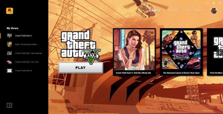 Rockstar Games Launcher Main