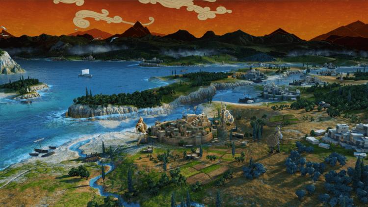 Total War Saga Troy Announcement Trailer Campaign Map trojan war