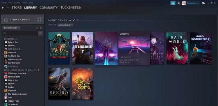Steam Library Revamp Update Games