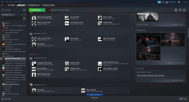 Steam Library Update Beta Remnant Achievements
