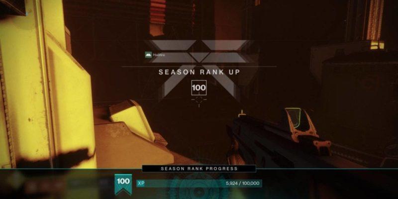 Destiny 2 Shadowkeep Season Rank 100 Level Up Rewards