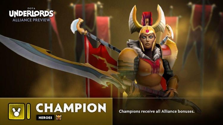 Dota Underlords The Big Update Champion Alliance