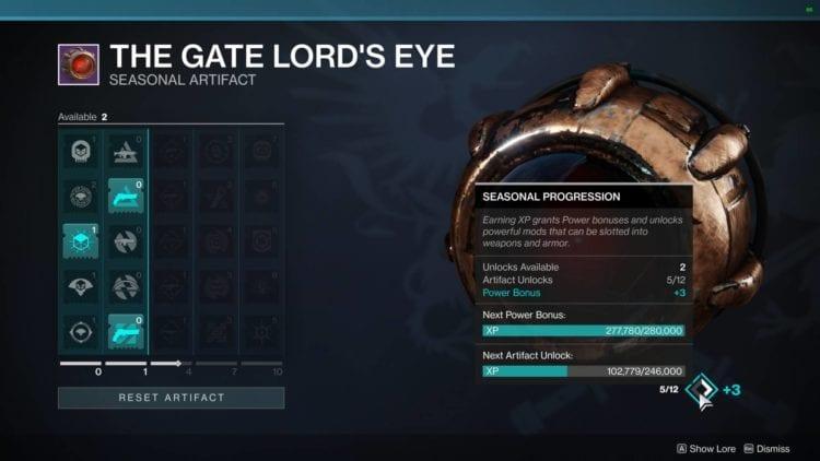 Gate Lord's Eye Artifact