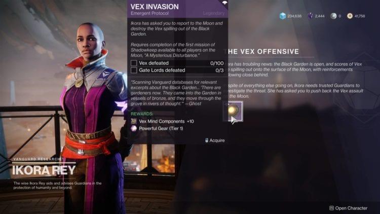 Ikora Bounty Vex Offensive