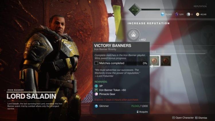 Lord Saladin New Bounties