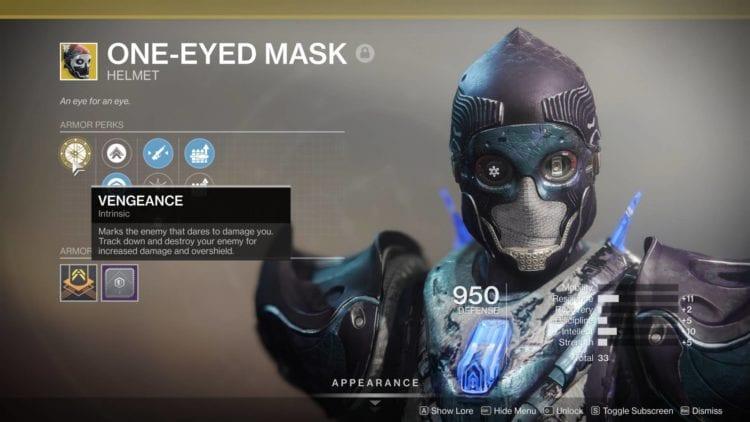 One Eyed Mask Exotic