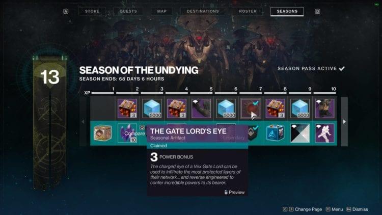 Season Progress Screen