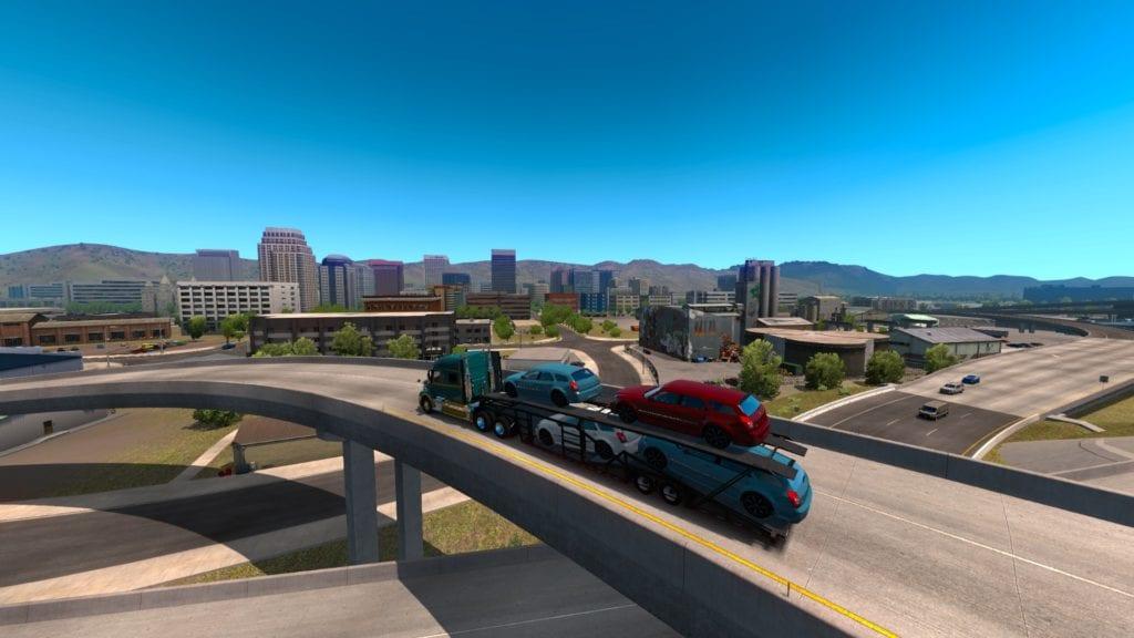 American Truck Simulator Utah Salt Lake City Skyline