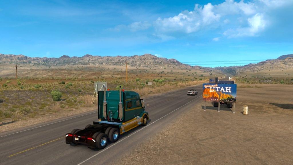 American Truck Simulator Utah Welcome Sign