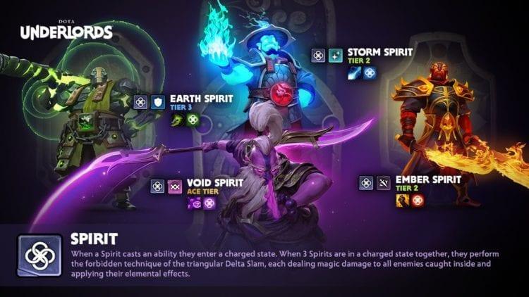 Dota Underlords Outlanders Update Spirit Alliance