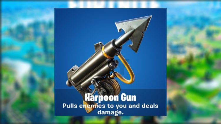 Fortnite Chapter 2 Harpoon Gun Fishing Pull Enemies