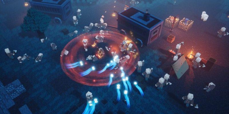 Minecraft Dungeons Screenshot Nighttime Battle 2