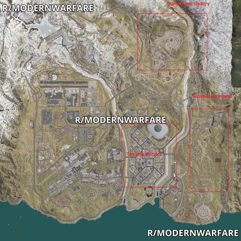 Modern Warfare Battle Royale leaked map