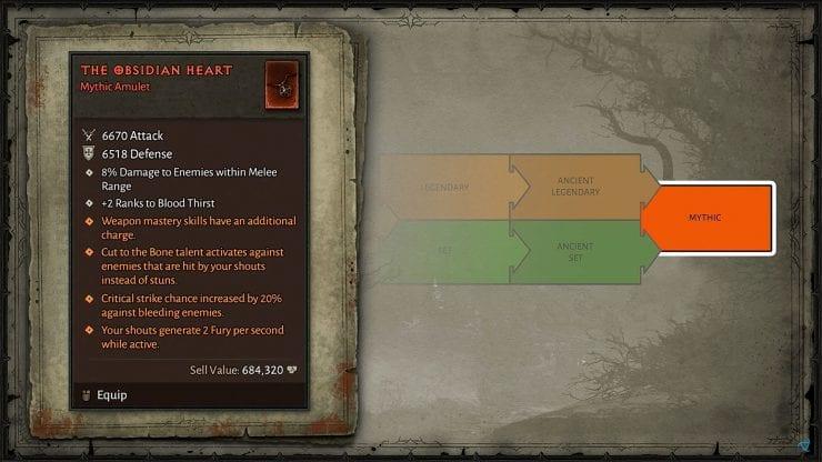 Diablo Iv Mythic Item