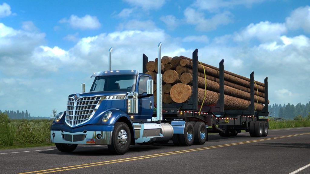 American Truck Simulator International Lonestar Logs