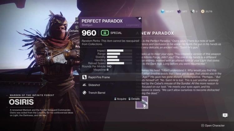 Destiny 2 Season Of Dawn Perfect Paradox Shotgun Saint 14 Recovering The Past Guide Osiris