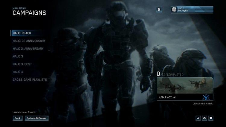Halo Reach Pc Technical Review Main Menu