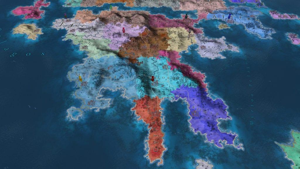 Imperiums Greek Wars Map