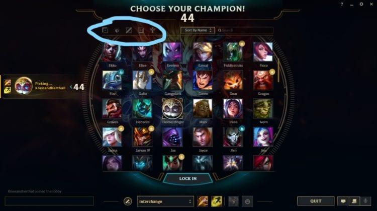 Leagueoflegends Champion Select