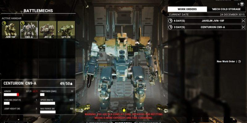 MechWarrior 5: Mercenaries guide equipment