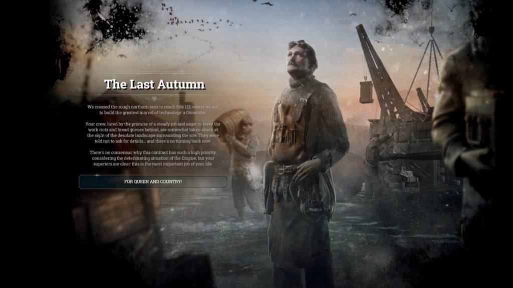 Frostpunk The Last Autumn Title Card