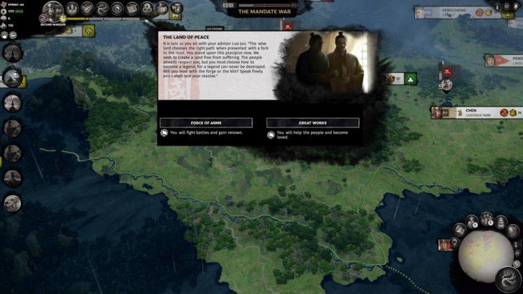Liu Chong Guide Total War Three Kingdoms Mandate Of Heaven Dilemma Event Peace War