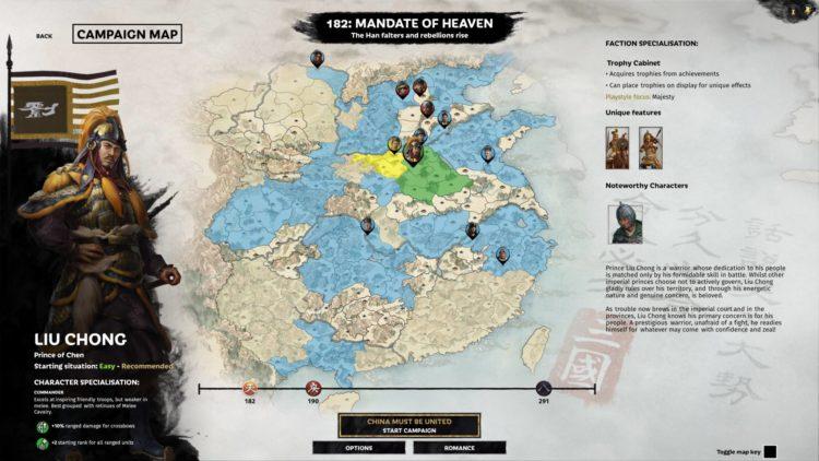 Liu Chong Guide Total War Three Kingdoms Mandate Of Heaven Overview