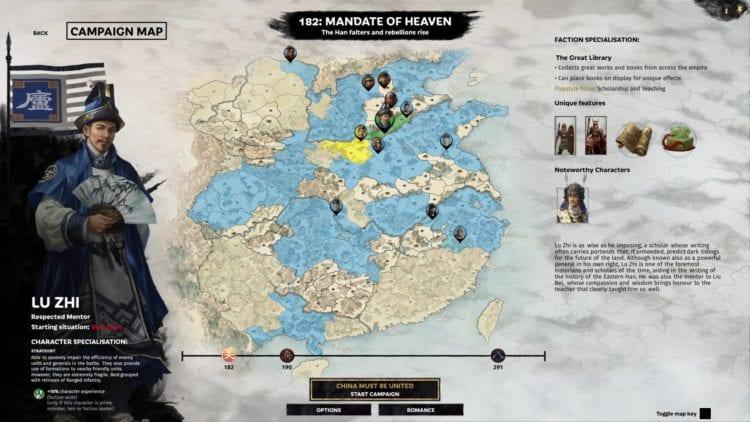 Lu Zhi Guide Total War Three Kingdoms Mandate Of Heaven Overview