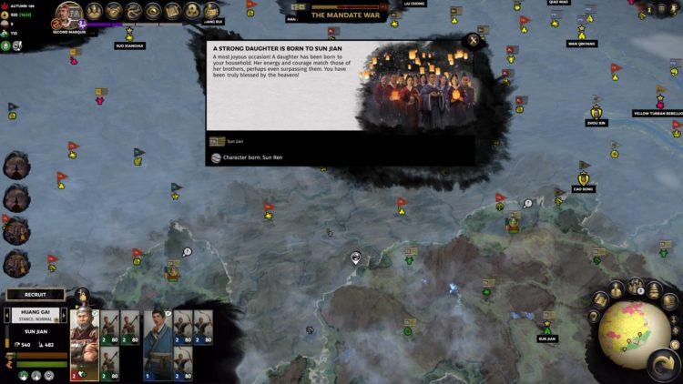 Sun Jian Guide Mandate Of Heaven Total War Three Kingdoms Sun Ren Birth Event