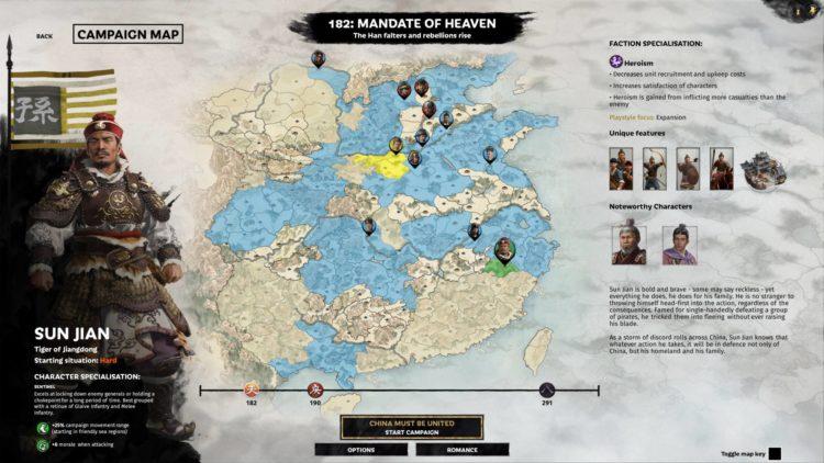 Sun Jian Guide Mandate Of Heaven Total War Three Kingdoms Overview