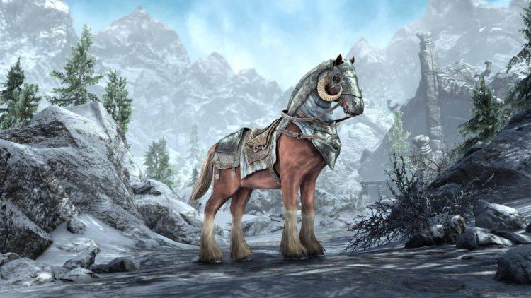 The Elder Scrolls Online Greymoor Holdbreaker Warhorse Mount