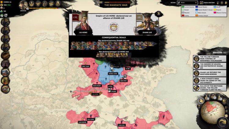 Yellow Turbans Guide Mandate Of Heaven Total War Three Kingdoms Zhang Jue Yellow Turban Rebellion Mandate War Starts