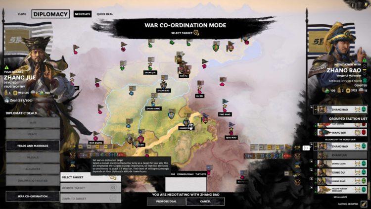 Yellow Turbans Guide Mandate Of Heaven Total War Three Kingdoms Zhang Jue Yellow Turban Rebellion War Coordination