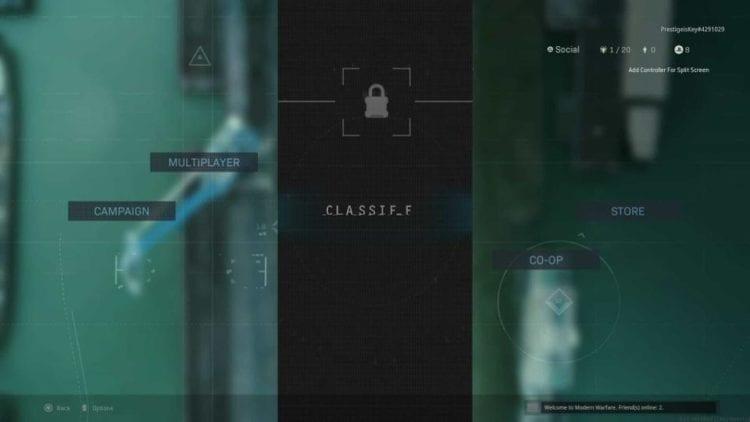 cod classified tab