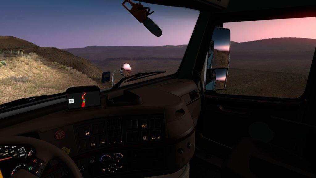 American Truck Simulator Canyon Window Down