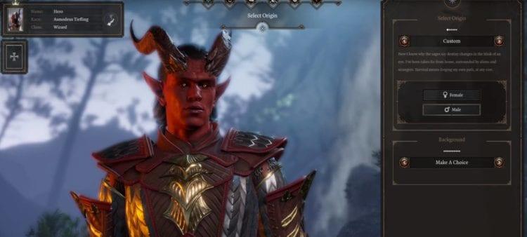 Baldur's Gate 3 Pax 2020 Character Creation