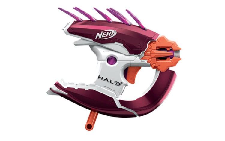 Nerf Halo Infinite Blaster guns, like Needler MA40 SPNKR UNSC