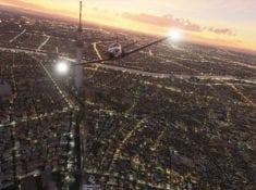 Microsoft Flight Simulator 2020 City Sunset