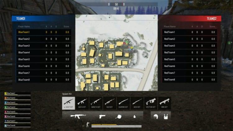 Pubg Team Deathmatch Scoreboard