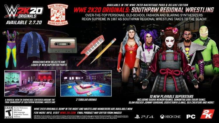 Wwe 2k20 Southpaw Regional Wrestling Dlc Characters