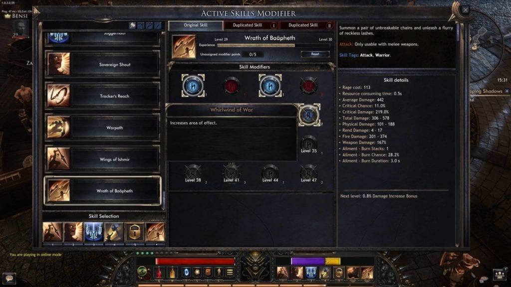 Wolcen Active Skills