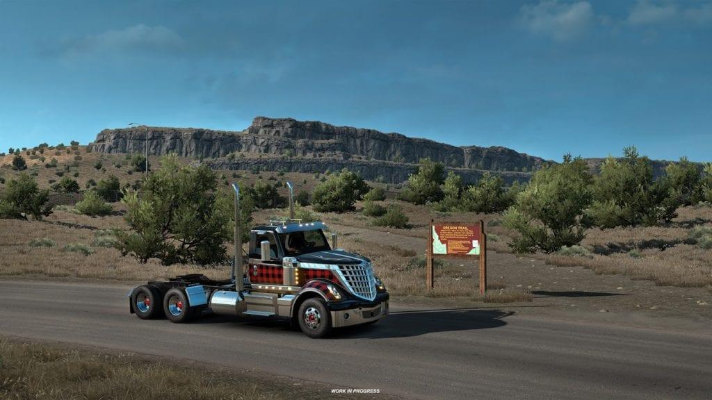 American Truck Simulator Idaho Oregon Trail Sign