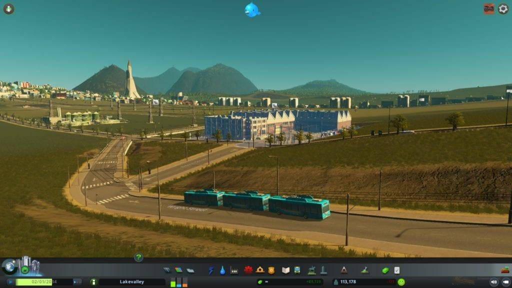 Cities Skylines Sunset Harbor Trolleybus 2