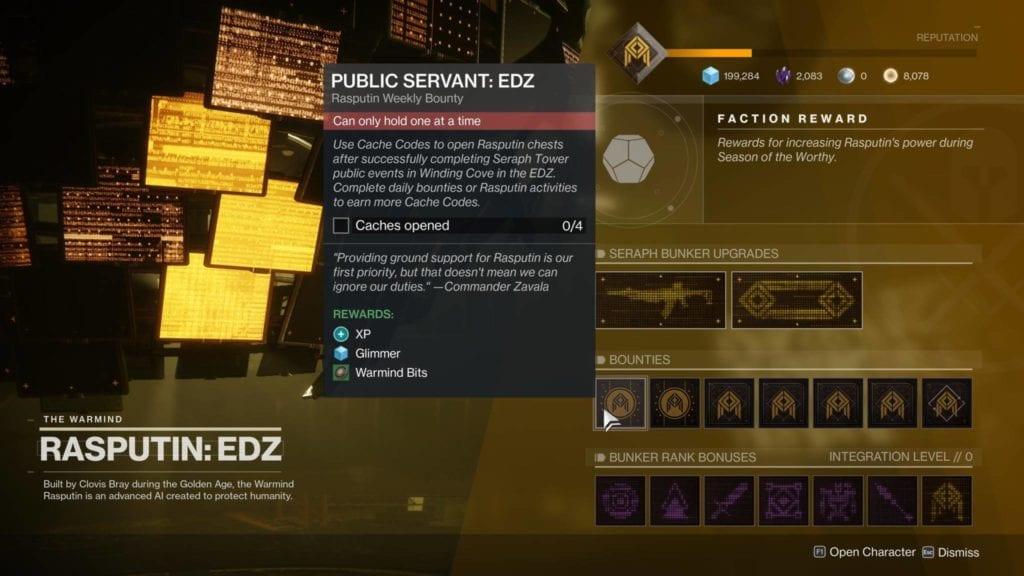 Destiny 2 Season Of The Worthy Edz Seraph Bunker Leveling And Rewards Guide