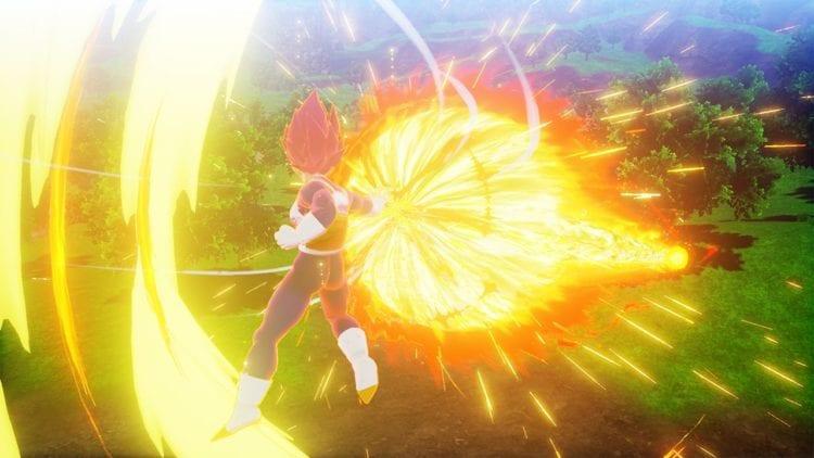 Dragon Ball Z Kakarot Super Saiyan God Vegeta