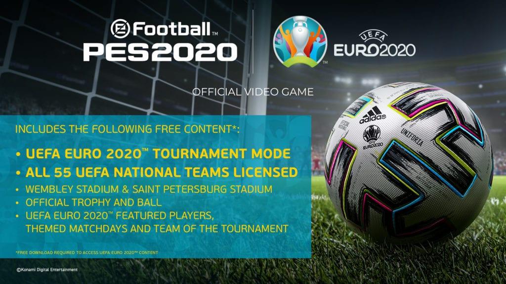 Euro 2020 Dlc Next For Konami's Pes 2020 (1)
