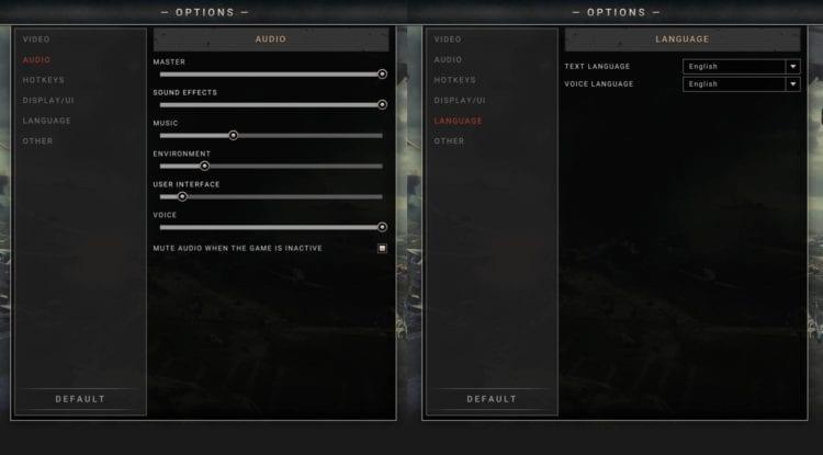 Pzc2 Options Audio